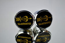 Shimano 105 golden arrow Handlebar End Plugs Bar Caps endstopfen lenkerstopfen