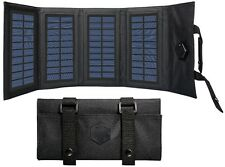 Solar Charger Black Military MOLLE Fold-able Solar Charger With USB Port 80009