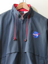 Vintage Nasa Authentic Work Jacket Navy Blue L Hilton Bomber Space