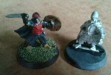 LOTR Warhammer Merry & Pippin in Armour Metal Miniatures Based