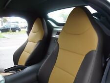 PONTIAC SOLSTICE BLACK/BEIGE LEATHER-LIKE CUSTOM MADE FIT FRONT SEAT COVER