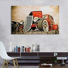"""40"""" x 24"""" Hot Rod Vintage Cars Silk Cloth Poster Living Room Home Decoration"""
