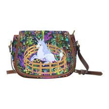 The Last Unicorn in Captivity Waterproof Saddle Shoulder Handbag for Women Girls