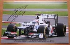 CHEQUERED FLAG COLLECTABLES K Kobayashi signed Sauber C31 action photo 2012