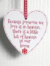 Because Someone We Love Is In Heaven Heart Christmas Tree Decoration Xmas Bauble