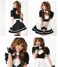 Black Cute Sex Maid Fancy Party Dress For Halloween Costumes Cosplay Uniform