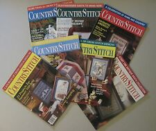 Lot of 7 CountryStitch Country Cross Stitch Magazines 1990 1991 Needlework GUC