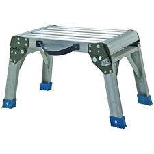 Working Platform - Step Stool - Folding - Aluminum 350 lb