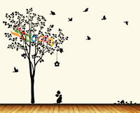 Wall Decor Decal Sticker Removable vinyl large tree 7'