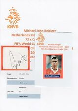 MICHAEL REIZIGER NETHERLANDS INTL 1994-2004 ORIGINAL HAND SIGNED CUTTING
