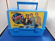 VINTAGE 1976 HAPPY DAYS WITH THE FONZ BLUE PLASTIC LUNCHBOX NO THERMOS