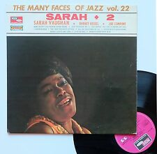 """Vinyle 33T Sarah Vaughan  """"The many faces of jazz vol.22"""""""