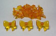 30 Beautiful Large Bows Ceramic Christmas Tree Bulb/Light Ornaments ~ Amber