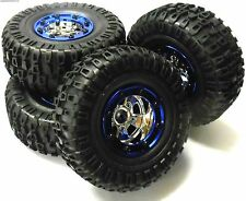 BS703-004 1/10 Scale Rc Rock Crawler Off Road Ruedas y Neumáticos 4 azul de plástico