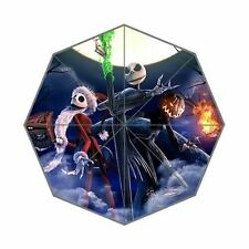 NBC NIGHTMARE BEFORE CHRISTMAS JACK & PUMPKIN & SANTA  PARASOL UMBRELLA 100% UV