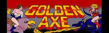 """Golden Axe Arcade Marquee 26""""x8"""""""