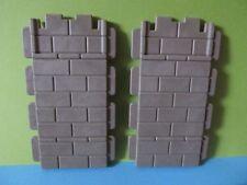 PLaymobil*2 Stück Mauer Wand SET 3445 Fachwerkhaus *Ritterburg 3666* 3450*3667