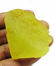 234 Ct Natural Uncut Sri Lankan Yellow Sapphire Rough Loose Gemstone