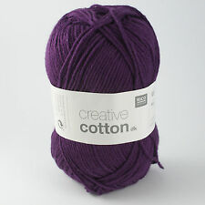 Rico Creative Cotton DK - 100% Cotton Knitting & Crochet Yarn - Cardinal 010