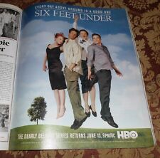 2004 Near Mint Print Ad Poster Six Feet Under Every Day Above Ground is a Good O