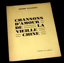 le collet bleu chanson d'amour de la vieille Chine piano chant 1931 Pi. Vellones