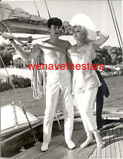 Vintage Tony Curtis BEEFCAKE ZsaZsa Gabor CANNES Sailboat '65 Press CROLLALANZA