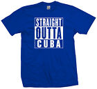 Straight Outta Cuba T-Shirt - Cuban Pride Cubano Castro Flag Parody - All Colors
