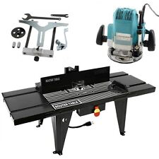 """Router Table & 1/2"""" Router Kit Benchtop 34""""x13"""" Deluxe w/ On/Off Switch NEW"""
