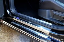 VW Golf Mk7 2013  'R' Stainless Steel Kick Plate Car Door Sill Protectors - 8pce