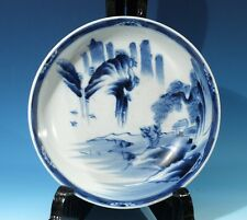 Rare Antique Chinese Handpainted Blue & White Porcelain Bowl.