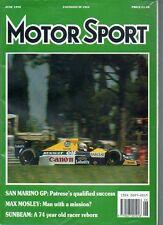 Motor Sport Magazine - June 1990