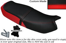 RED & BLACK CUSTOM FITS HONDA CB 250 RS DUAL LEATHER SEAT COVER ONLY
