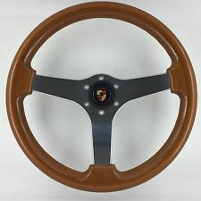 Genuine OBA 365mm VOLANTE bordo in legno. PORSCHE 911,912,930,928,944,993,356