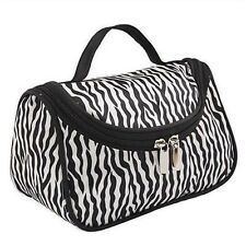 Women Makeup Cosmetic Case Toiletry Bag Zebra Travel Handbag Organizer pouch KB