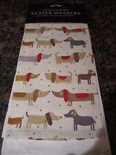 Ulster Weavers Cotton Tea Kitchen Dish Towels Sausage Dachshund - Weiner Dog NWT