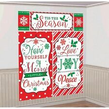 MERRY CHRISTMAS SCENE SETTER PARTY WALL POSTER DECORATION PHOTO BOOTH PROP