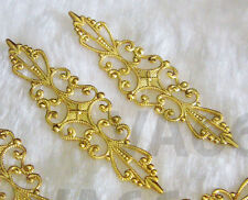 DIY Gold Filigree Lace Extension Chandelier Earrings Necklace Parts 4p Findings