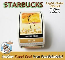 Starbucks Coffee Light Note Blend Rare Labels Stickers New Roll with SKU