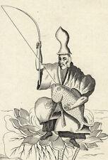 Idole Japonaise Japon Japan Jebis Religion - gravure Bernard Picart