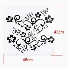 2x Butterfly Flower Vinyl Car Graphics window Sticker Decal Decor