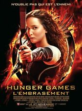 Affiche 120x160cm HUNGER GAMES - L'EMBRASEMENT 2013 Jennifer Lawrence, Hemsworth