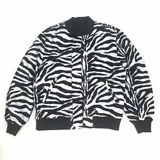 NWT Supreme NY Men's Black Zebra Reversible MA-1 Bomber Jacket SS17 L AUTHENTIC