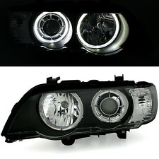 NOUVEAU 2015 - 2 FEUX PHARE AVANT ANGEL EYES LED BMW X5 E53 05/2000 A 2004