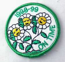 ON TIME Registration Patch Girl Scout 1998 Daisies Badge NEW Combine Ship