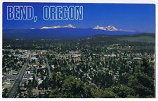 BEND OREGON -  WITH THE THREE SISTERS MOUNTAIN IN BACKGROUND POSTCARD # CT-3050