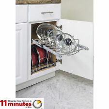 "High Quality Pots and Pan Lid Organizer Pull Out for 15"" Base Cabinet"