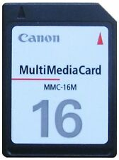 Multi media card (mmc) * 16 MB * CANON