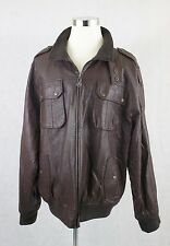 Mens MRG Faux leather Bomber Jacket Size 3xl