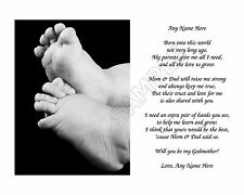 WILL YOU BE MY GODMOTHER PERSONALIZED ART POEM  GIFT