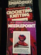 BH&G Craft Books Needlepoint, Crocheting N Knitting, And Embroidery Lot Of 3 Har